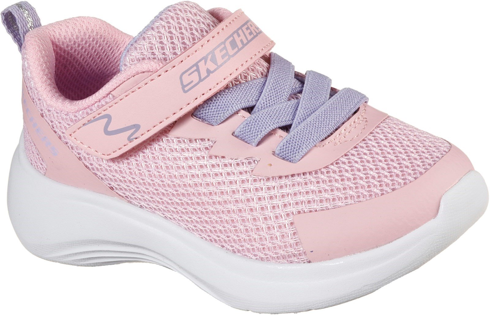 Skechers Kid's Selectors Sports Trainer Various Colours 32082 - Light Pink Mesh/Pink Trim 4