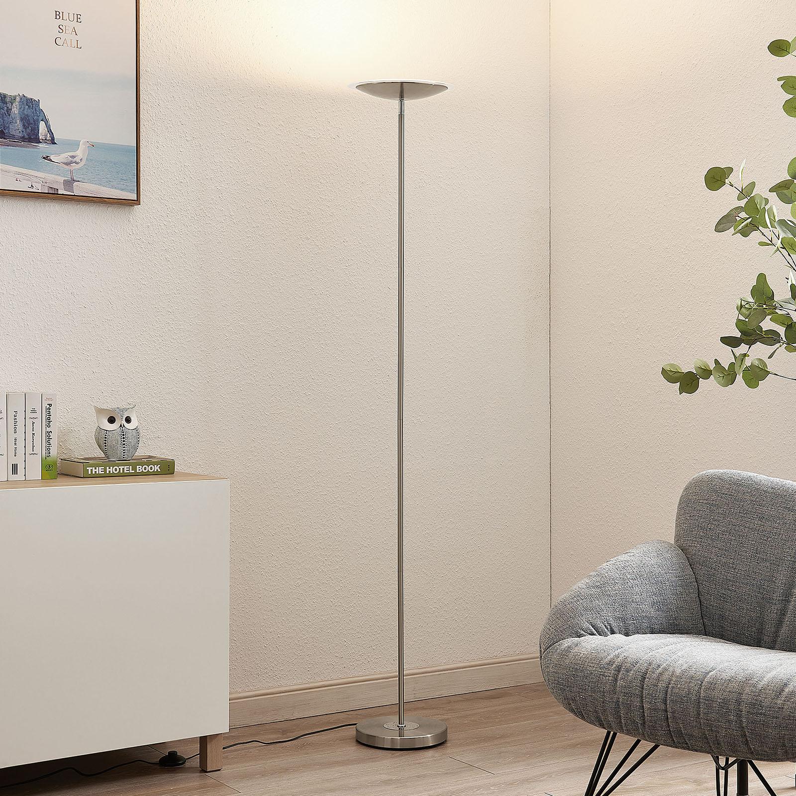 Lindby Heliani -LED-lattiavalo, 1-lamppuinen kromi
