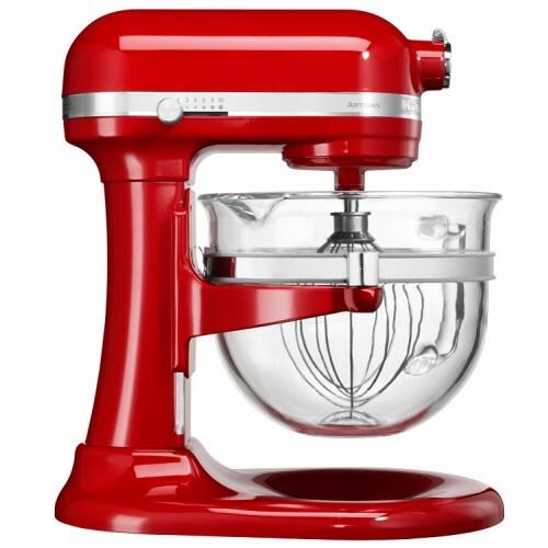 Kitchenaid Röd 6l Glasskål, Artisan Mixer Köksassistent -