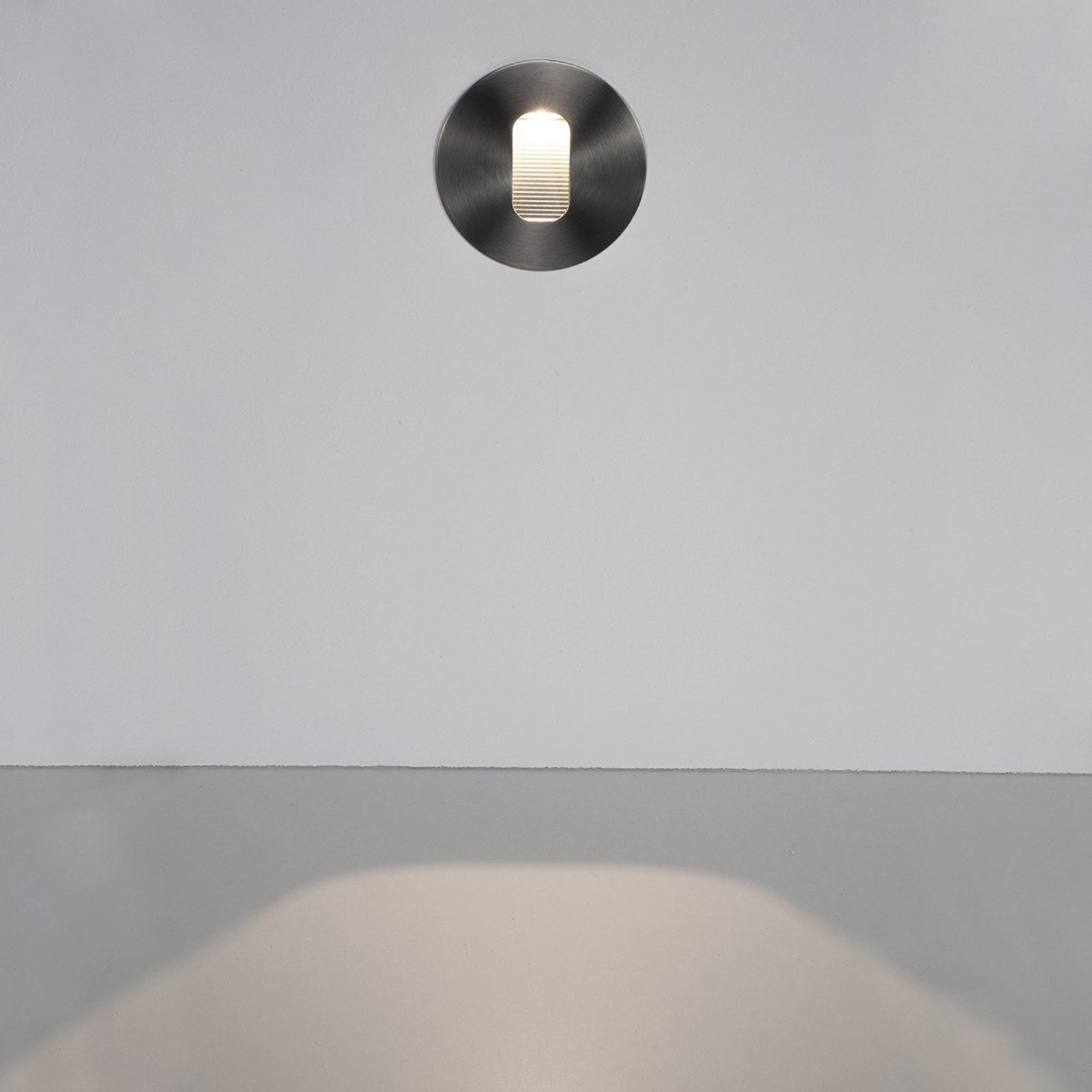 Pyöreä Telke-LED-seinään upotettava valaisin ulos