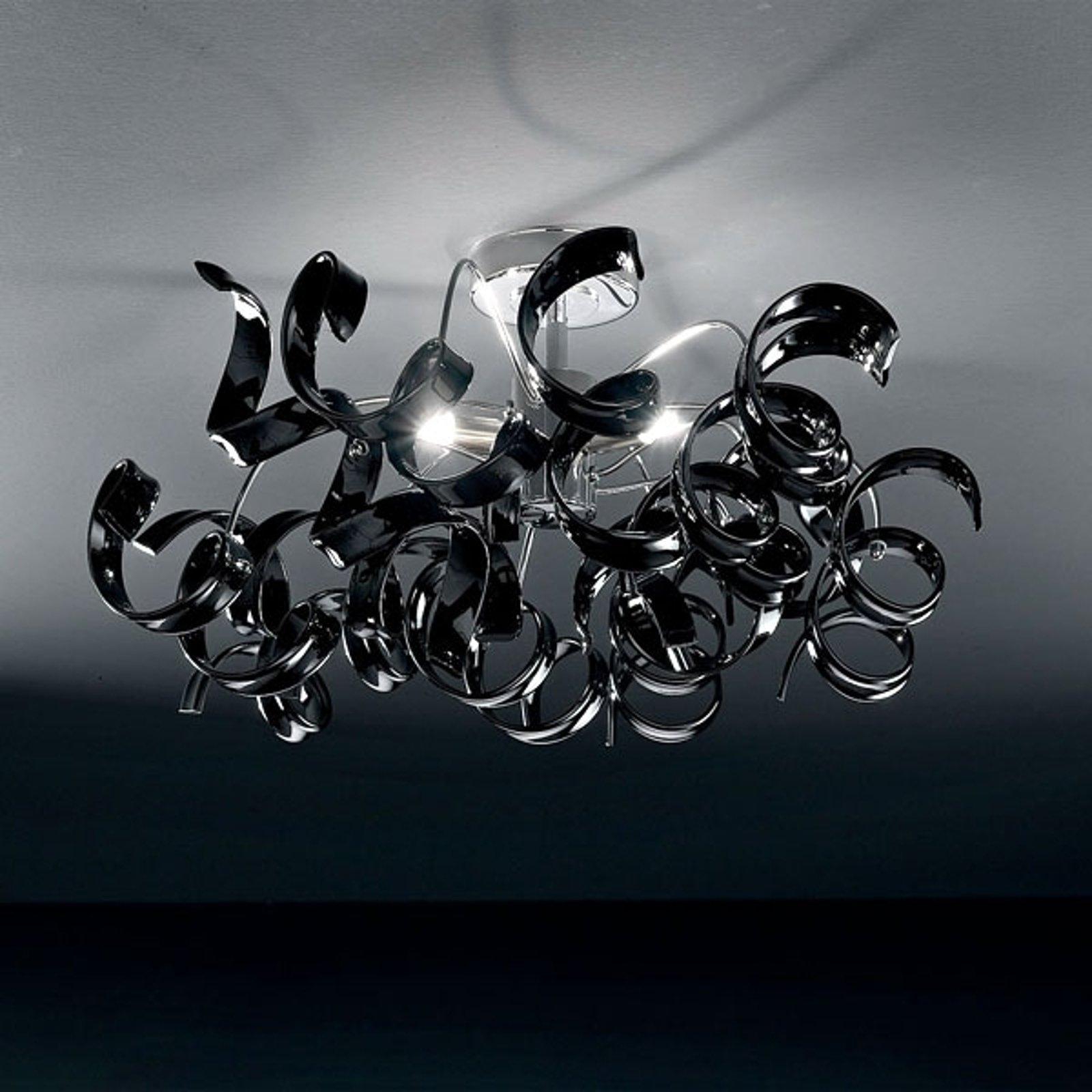 Moderne taklampe ASTRO, 3 lys, svart