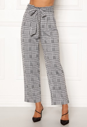 Happy Holly Luna paperbag wide pants Checked 32/34