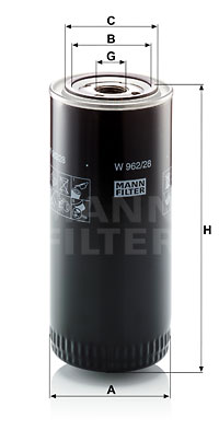Öljynsuodatin MANN-FILTER W 962/28