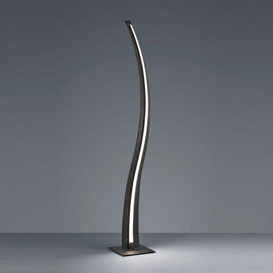 LED-gulvlampe Salerno, SwitchDim, matt svart