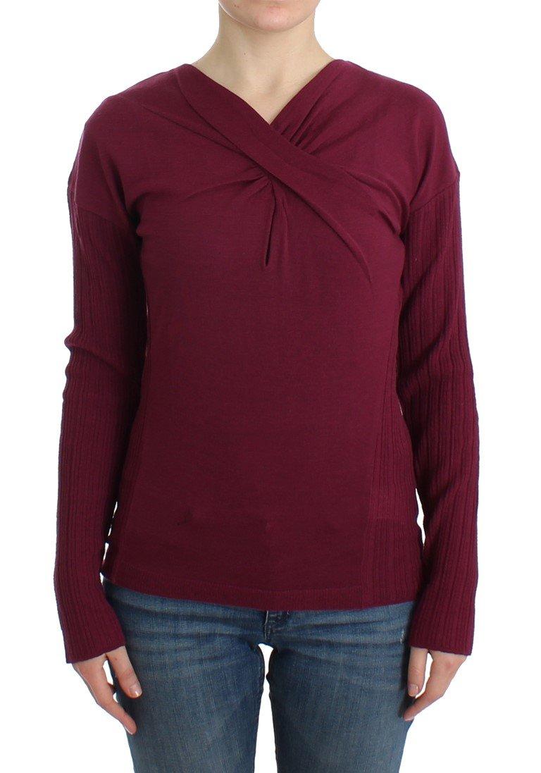 Cavalli Women's Sweater Purple SIG11849 - IT48|XXL