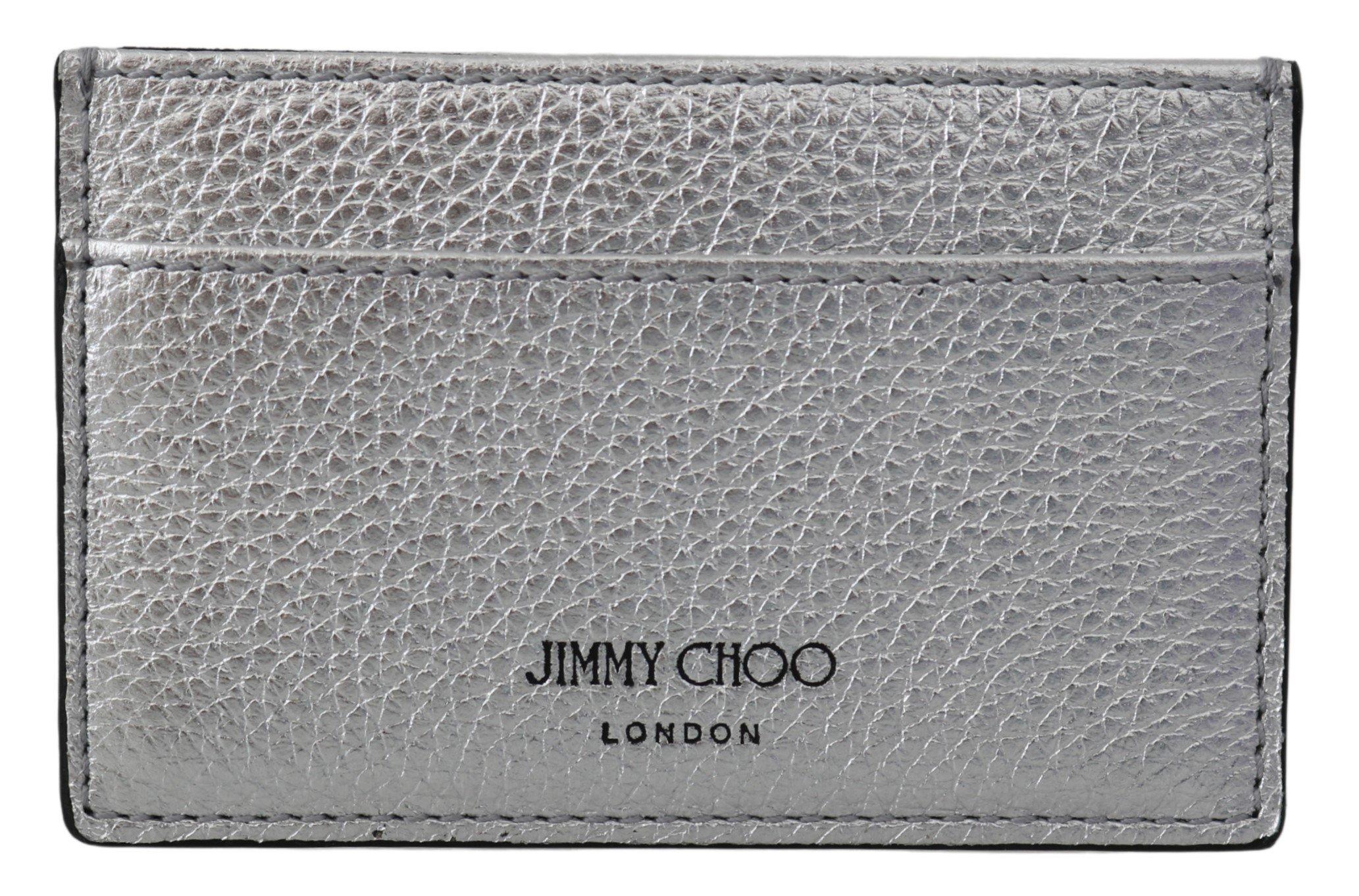 Jimmy Choo Women's Aarna Card Slot Holder Silver 1435714