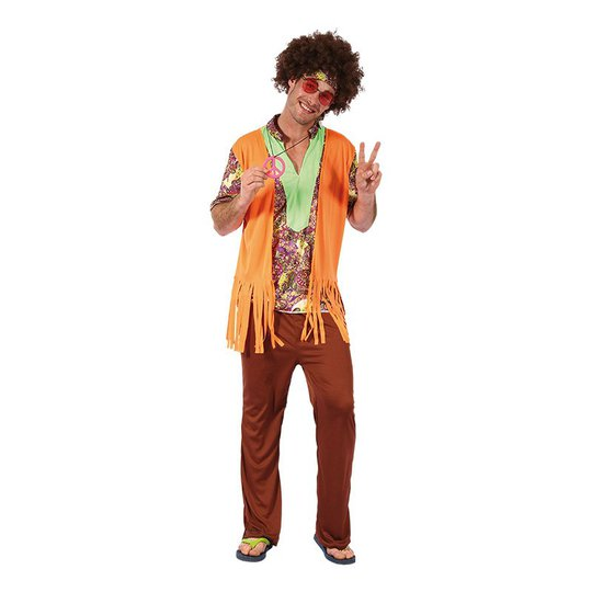 Hippie med Väst Maskeraddräkt - One size