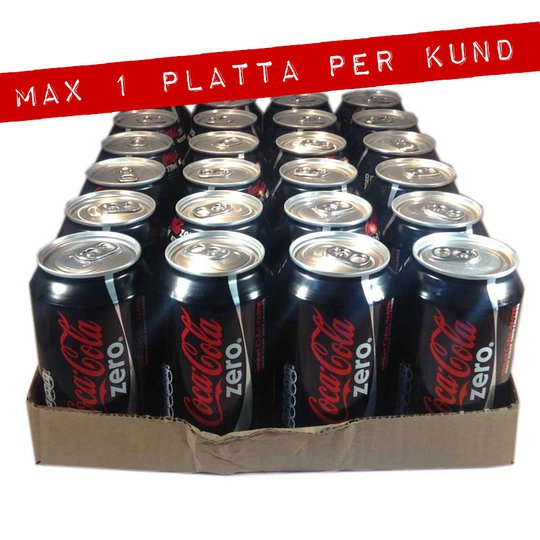 Hel platta Coca-Cola Zero - 70% rabatt