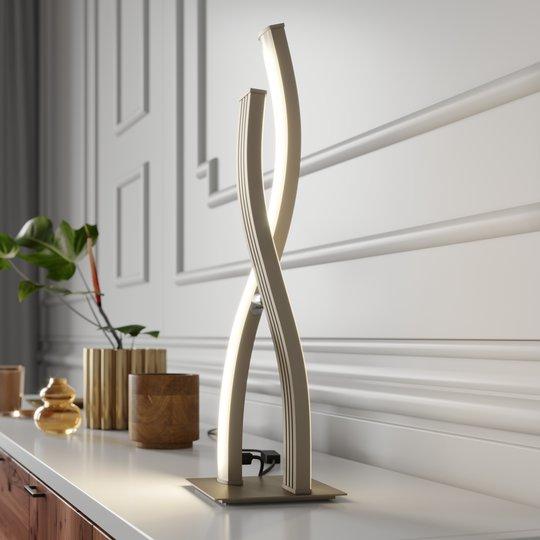 Lucande Mairia -LED-pöytävalaisin, himmennettävä