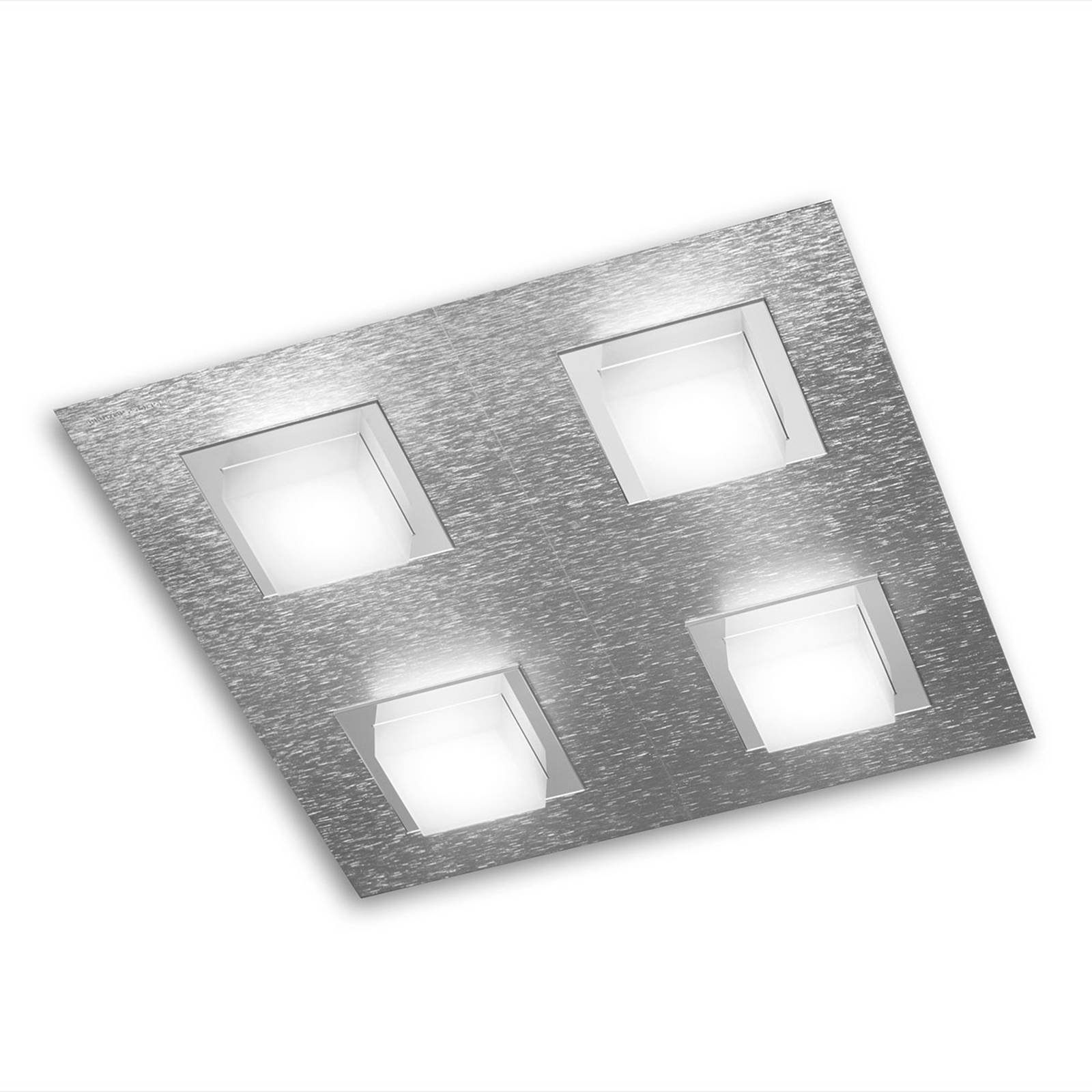 GROSSMANN Basic LED-taklampe 4lk., aluminium