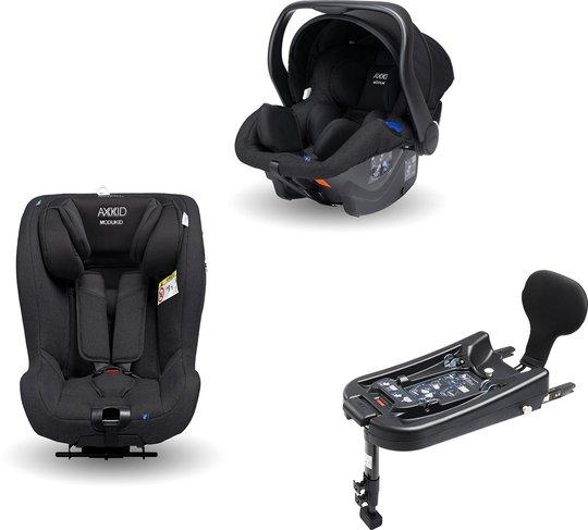 Axkid Modukid Seat Bilstol, Black + Infant Babybilstol Inkl. Base