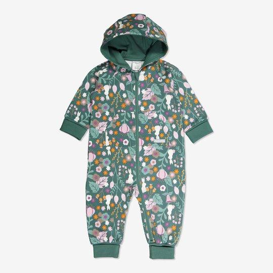 Dress med blomstertrykk baby grønn