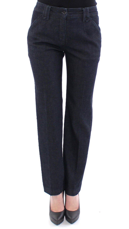 Dolce & Gabbana Women's Cotton Regular Fit Trouser Blue NOC10549 - IT40|S