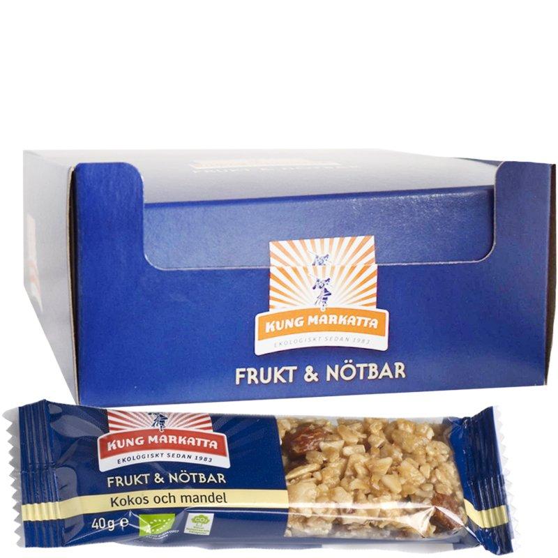 Eko Hel Låda Frukt- & Nötbar Kokos & Mandel 24-pack - 45% rabatt