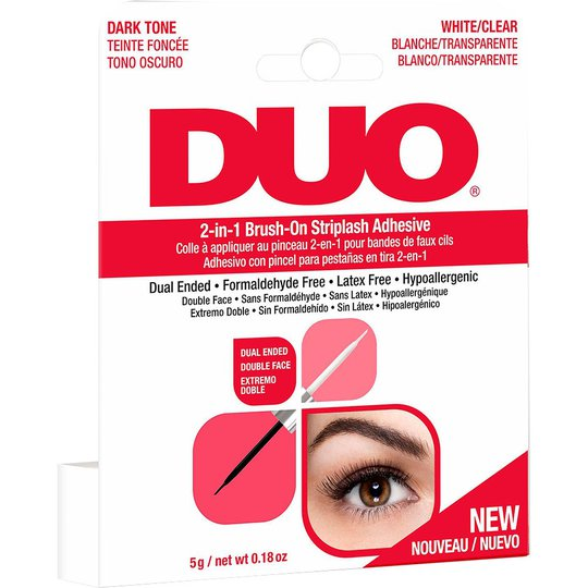 DUO 2-in-1 Brush-On Adhesive Clear & Dark, 5 g Andrea Irtoripset