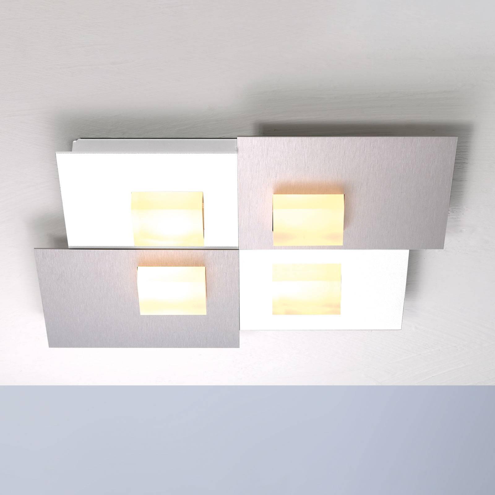 Bopp Pixel 4.0 LED-kattovalaisin 2-lamp., alu