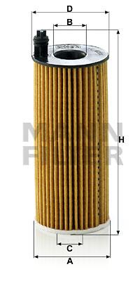 Öljynsuodatin MANN-FILTER HU 6004 x