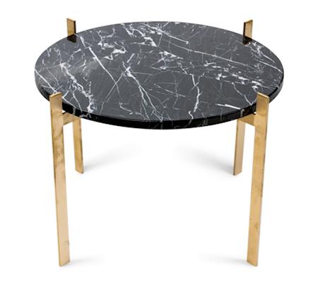 Single deck sofabord – Black/brass