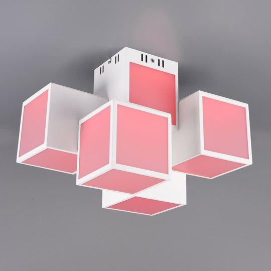 Trio WiZ Oscar LED-taklampe 45x30cm, hvit