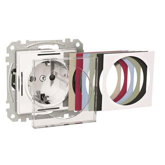 Schneider Electric Exxact WDE004493 Seinäpistorasia 1-osainen, maadoitettu, läpinäkyvä, 16A