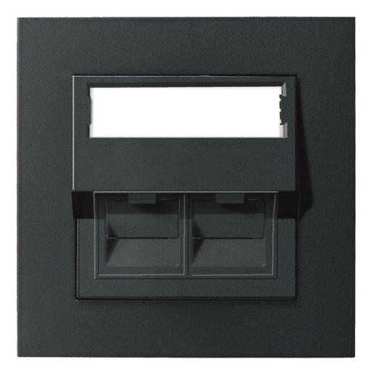 Elko EKO05568 Modulaarinen pistorasia 1xRJ45, STP C6A Musta