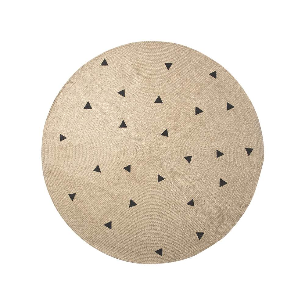 Jutematta rund 130 cm trianglar, Ferm Living