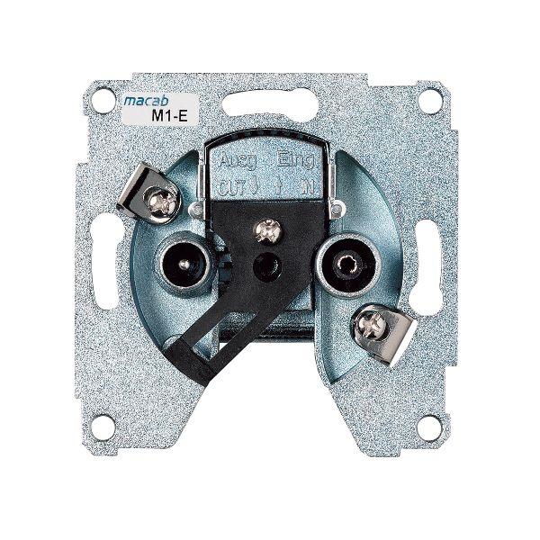 Schneider Electric 606041544 Fordeleruttak for c/c 60 mm veggboks R/TV S8