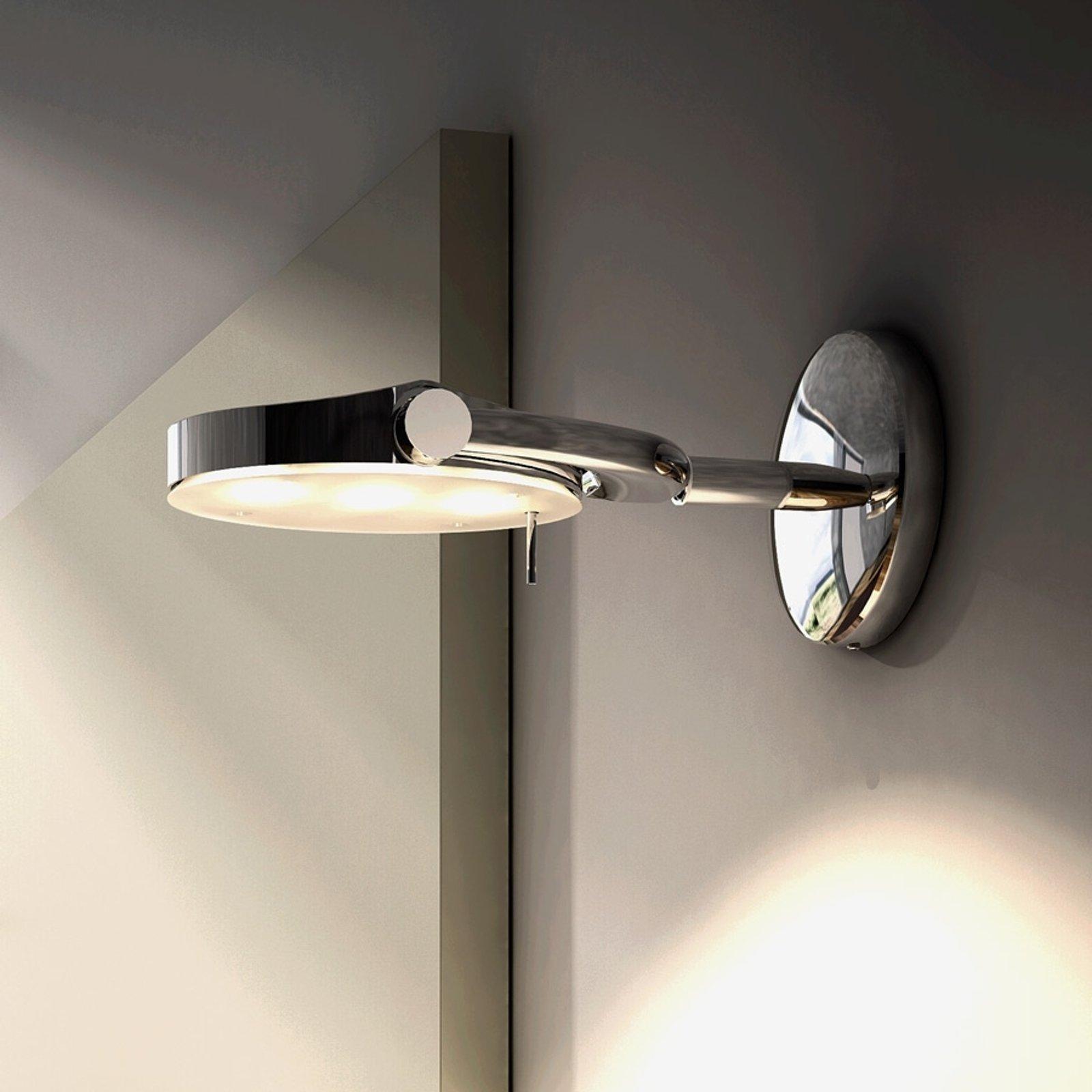 LED-vegglampe Perceval liten, kan vippes og dreies