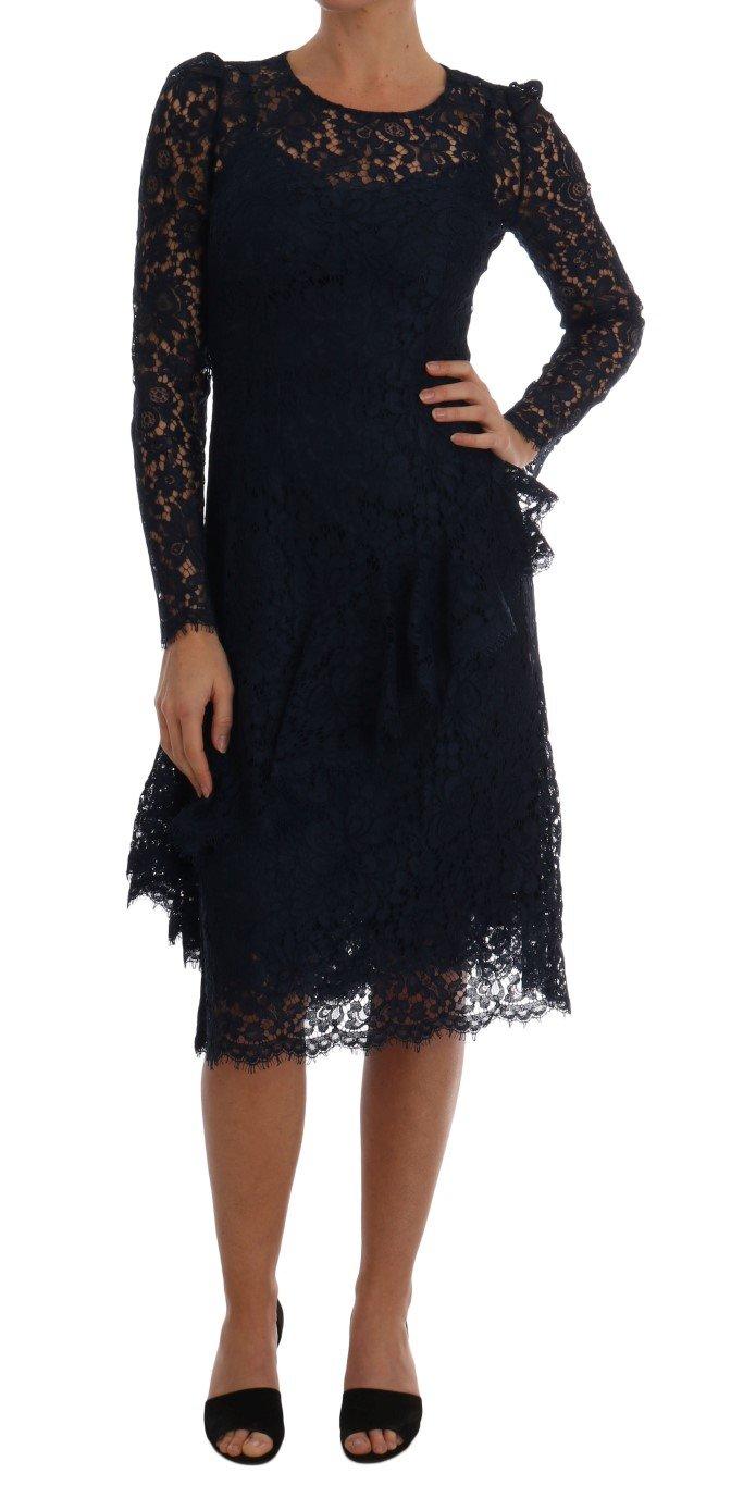 Dolce & Gabbana Women's Taormina Floral Lace Sheath Dress Black DR1309 - IT40 S