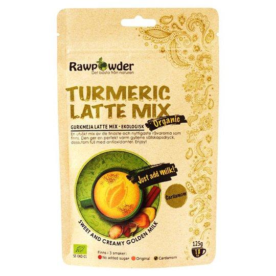 Rawpowder Ekologisk Lattemix Gurkmeja Kardemumma, 125 g