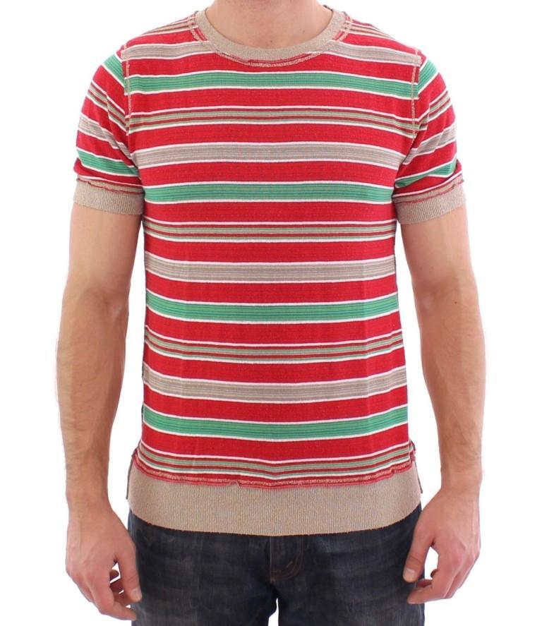 Dolce & Gabbana Men's striped Crewneck T-Shirt Multicolor GSS15156 - IT44   XS