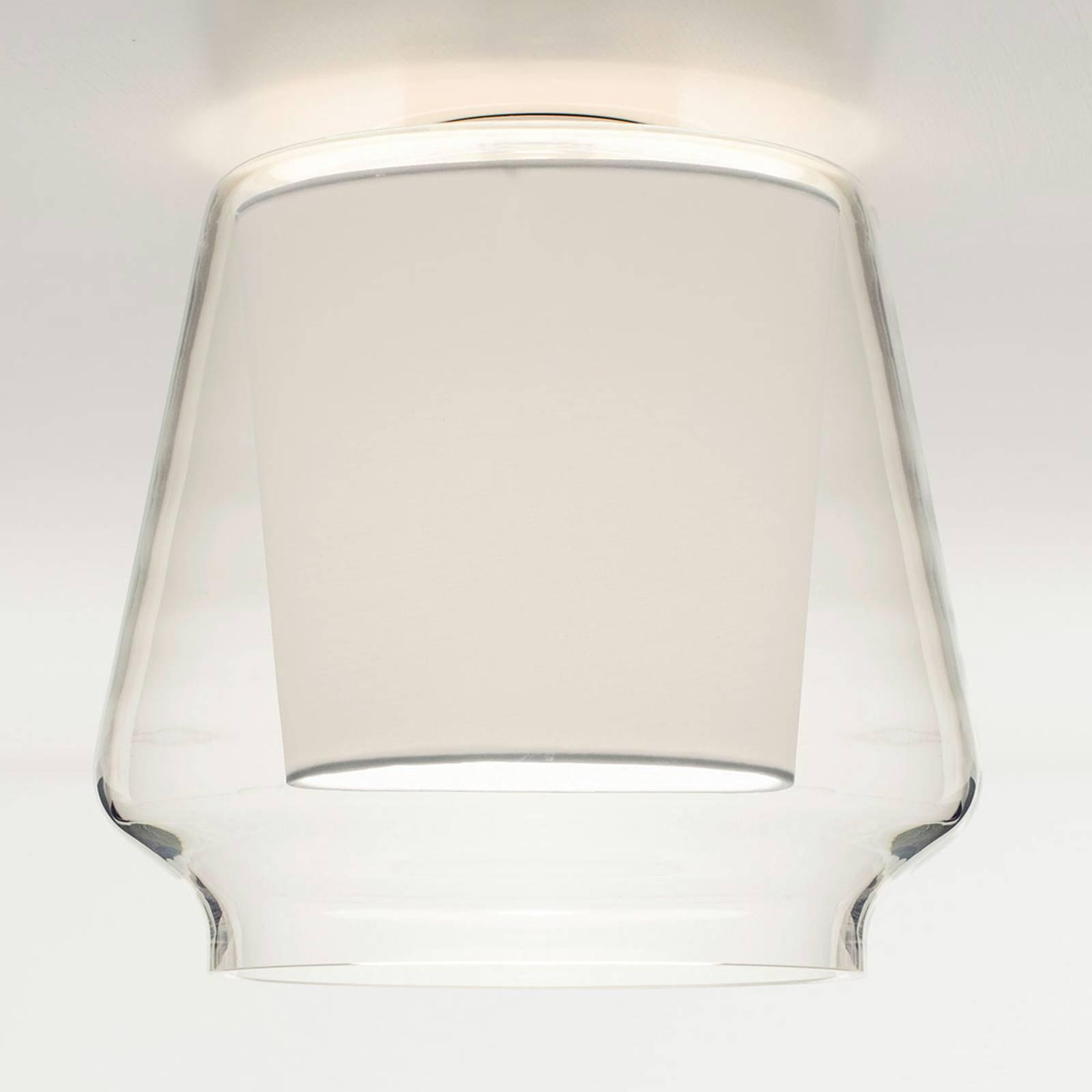 Casablanca Aleve taklampe, klar, hvit