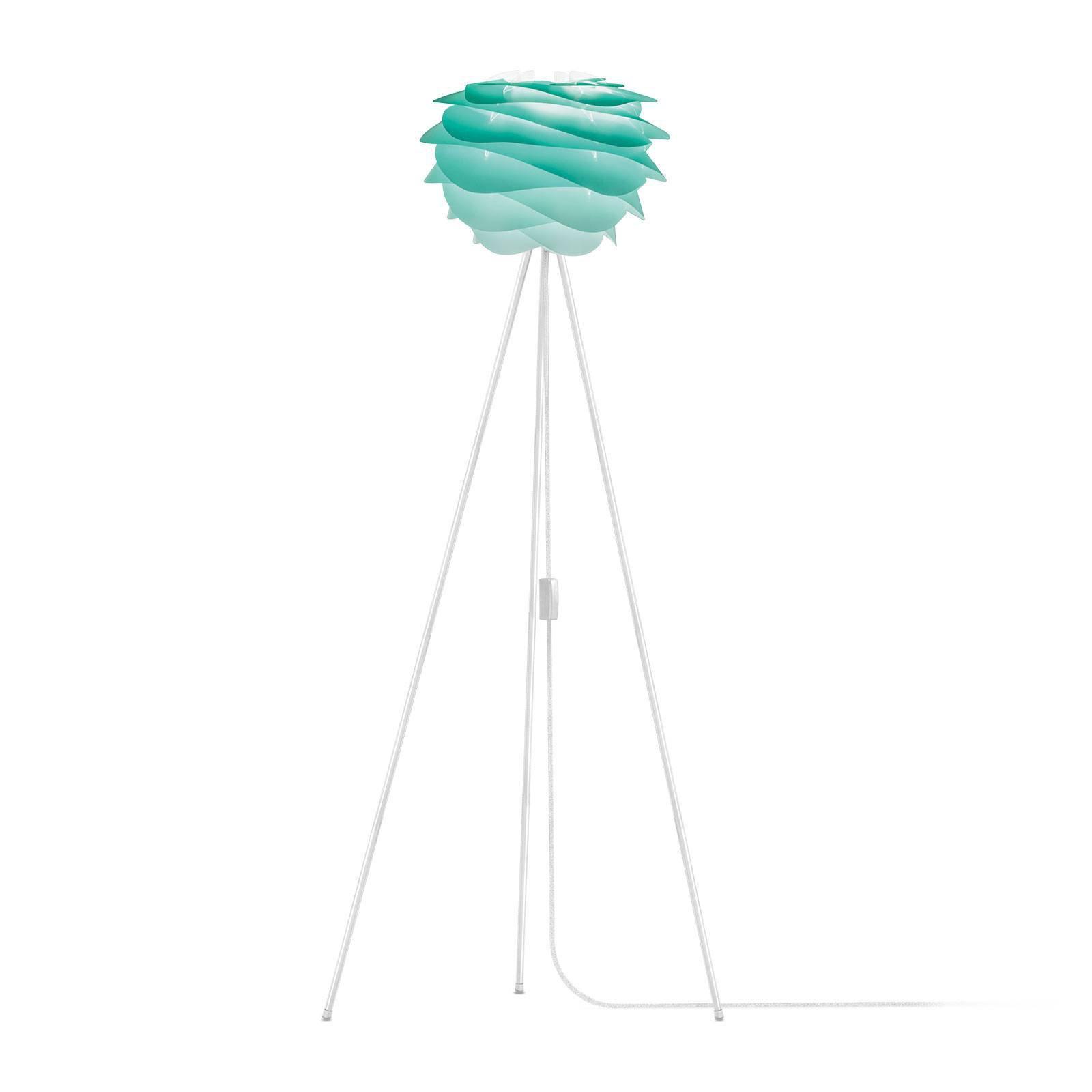 UMAGE Carmina Mini gulvlampe turkis/tripod hvit