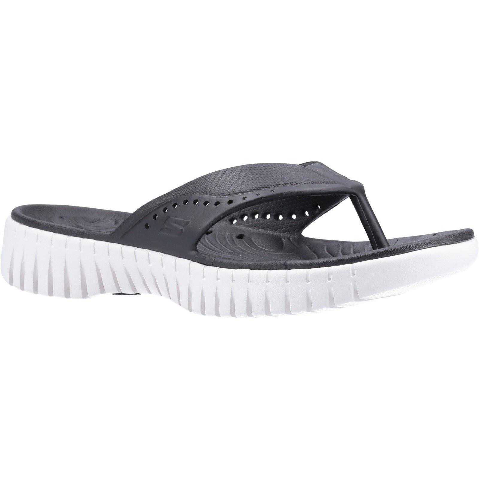 Skechers Women's GOwalk Smart Mahalo Sandal Various Colours 32371 - Black/White 3