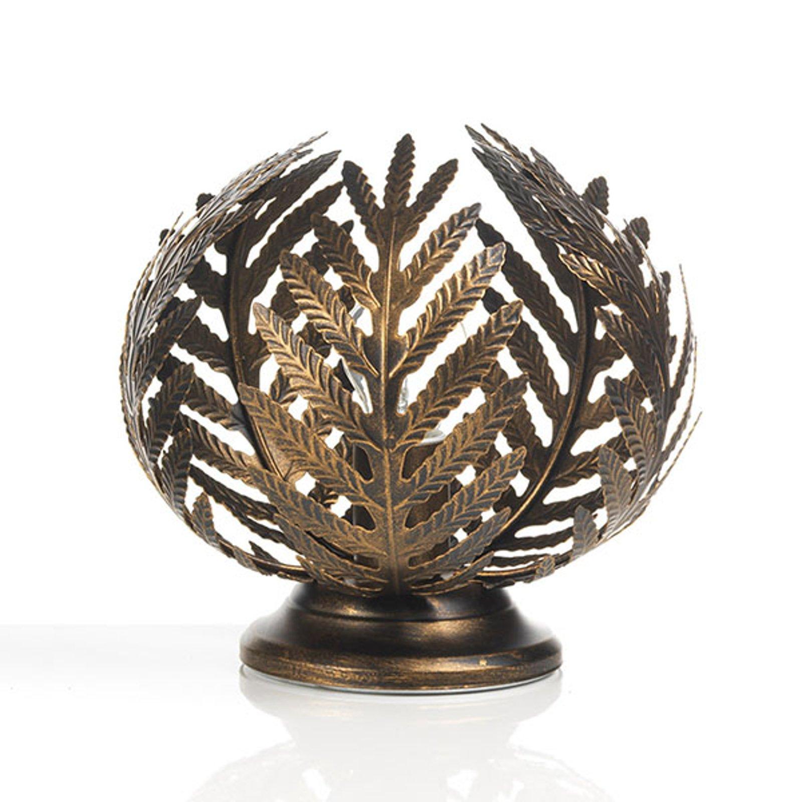 Bordlampe Felce som bregne i bronse, høyde 24 cm