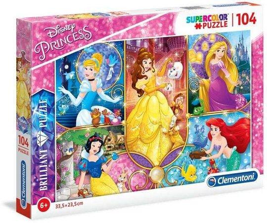 Disney Princess Brillitant Puslespill 104 Brikker