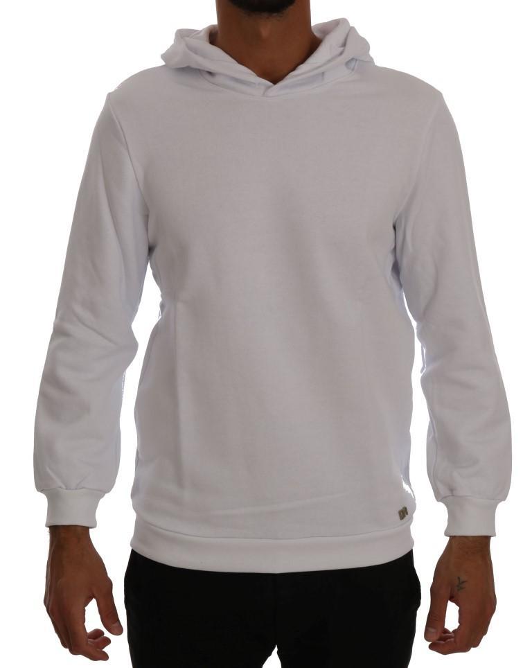 Daniele Alessandrini Men's Pullover Hodded Sweater White TSH1346 - L