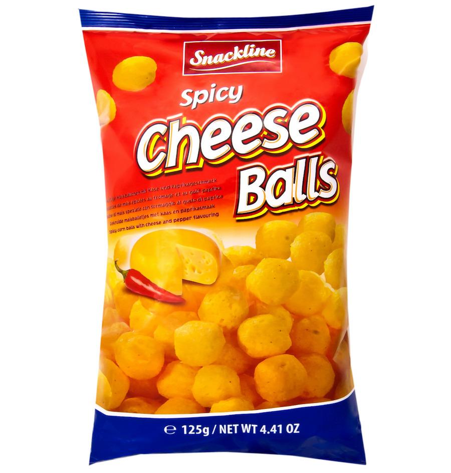 Snackline Spicy cheese balls 125g