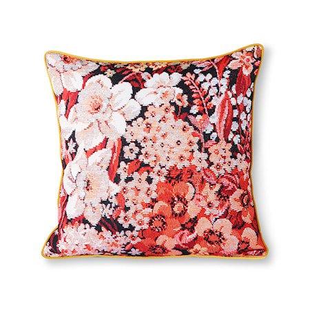 Printed Floral Cushion Coloured 50x50 cm