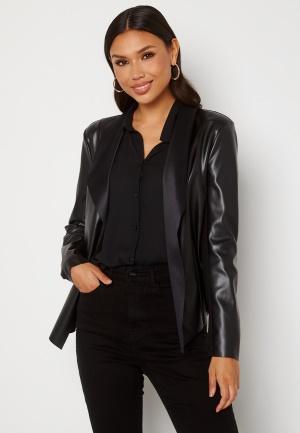 Happy Holly Vera PU jacket Black 44/46