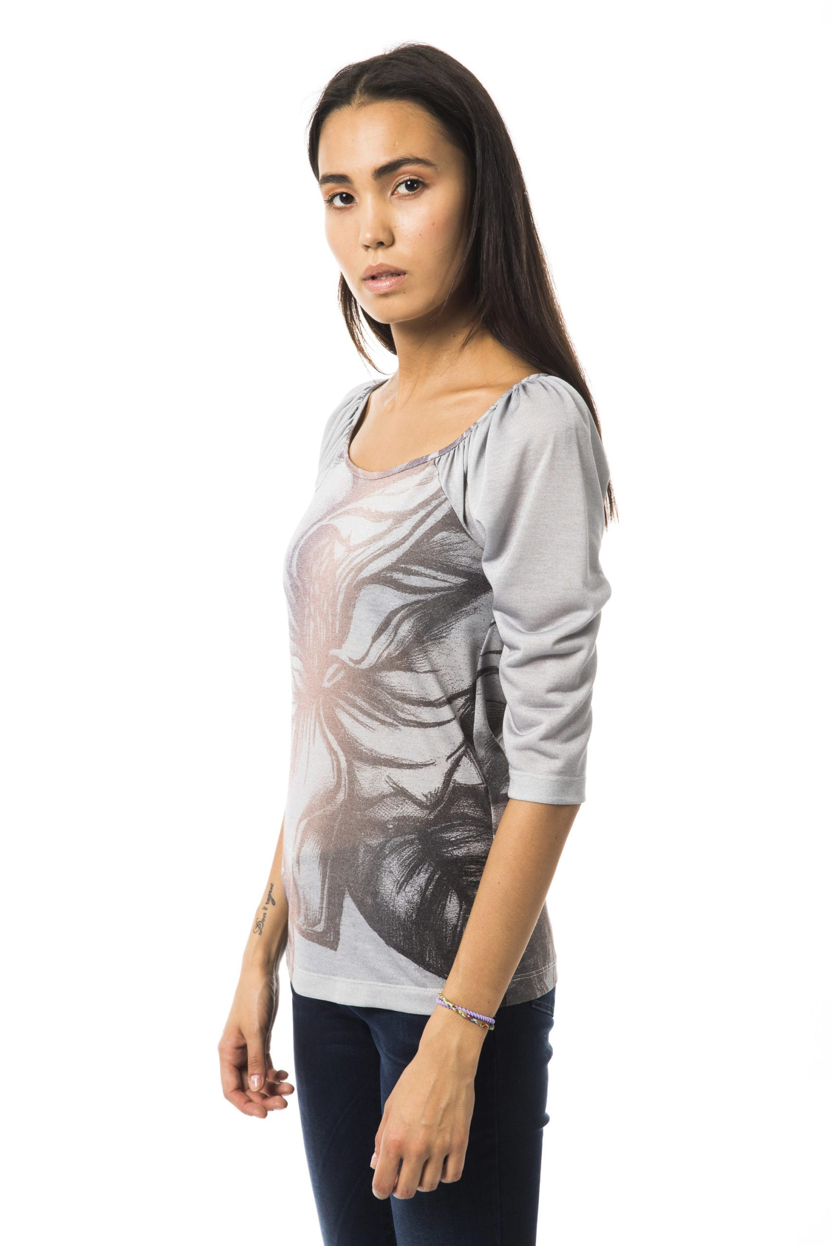 BYBLOS Women's Grigiofumo T-Shirt Gray BY1234733 - XS