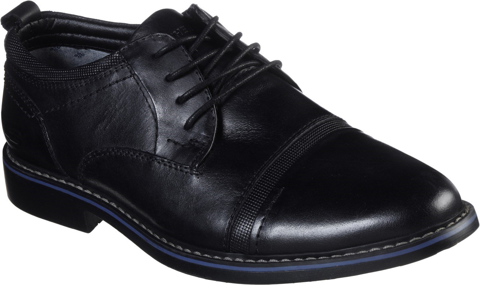 Skechers Men's Bregman Selone Lace Up Shoe 30748 - Black 6