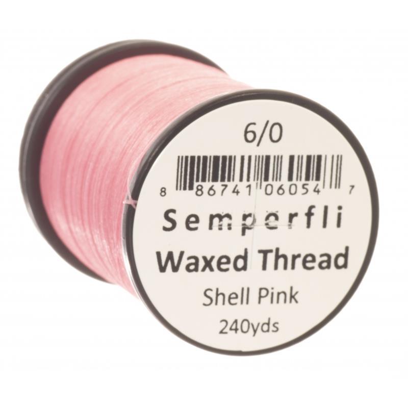 Semperfli Classic Waxed Thread Shell pink 6/0