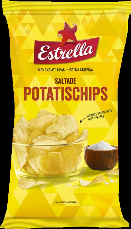 Estrella Potatischips Lättsaltade 40g