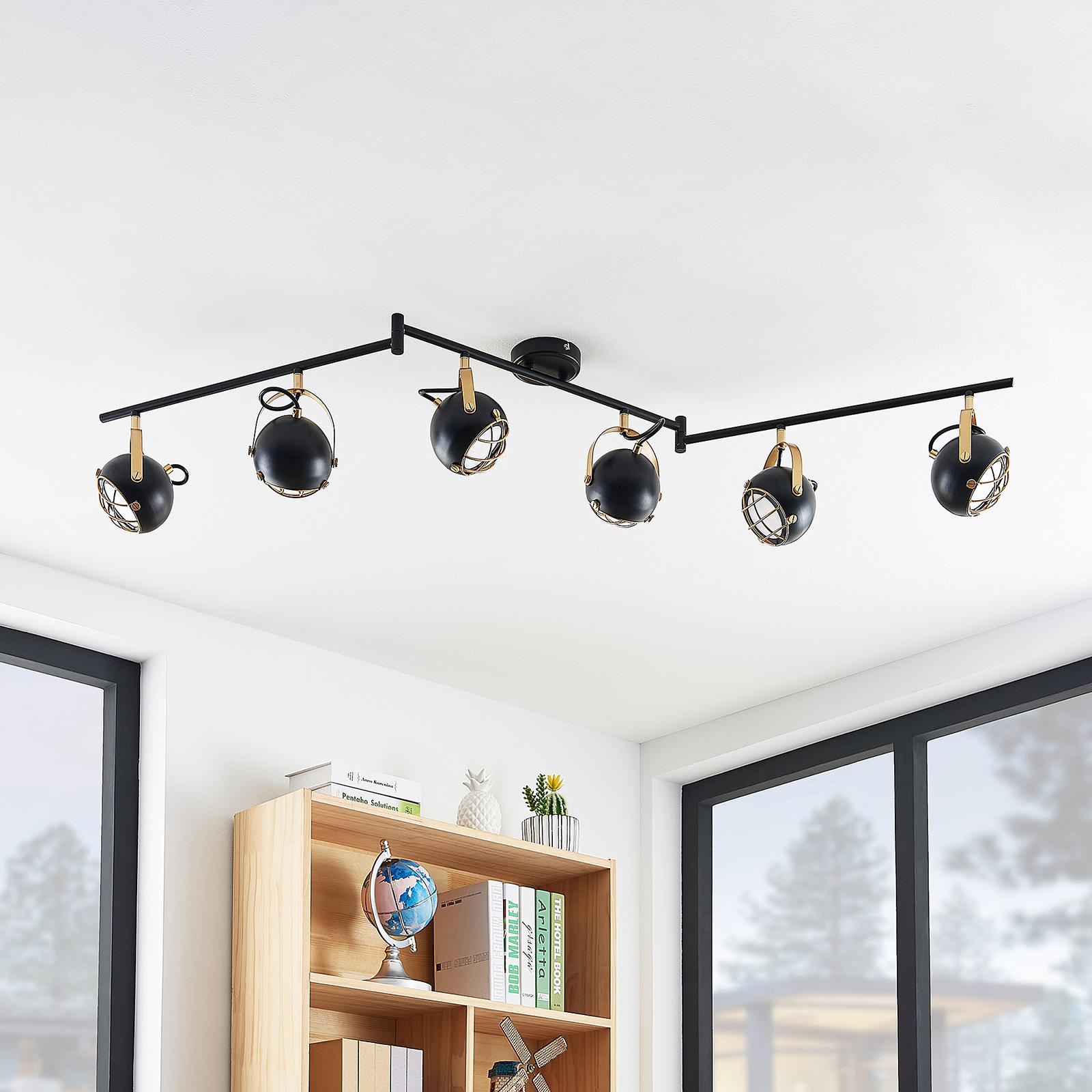Lindby Dawid -LED-kattovalaisin, 6-lamppuinen