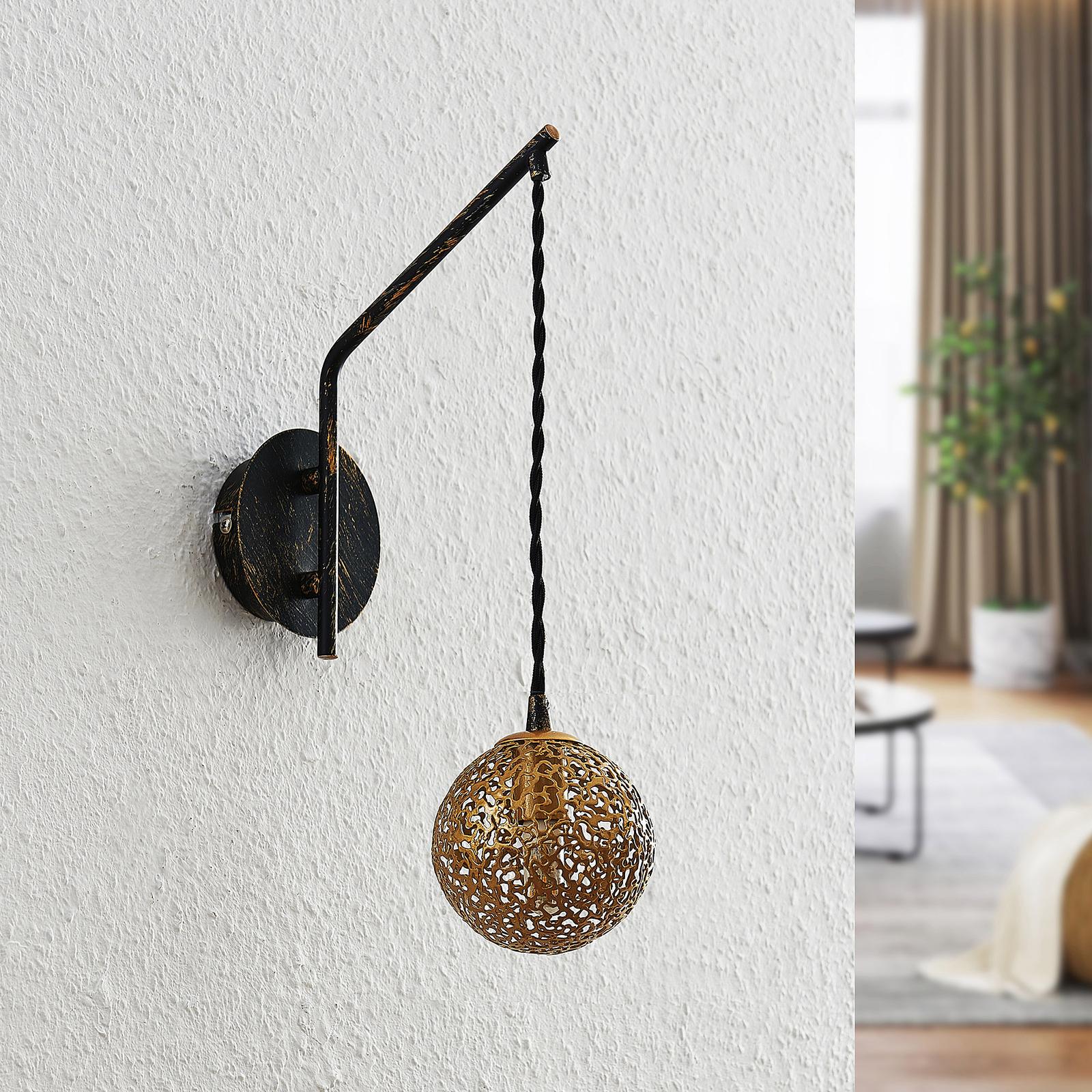 Lucande Zale -seinälamppu yksilamppuinen itämainen