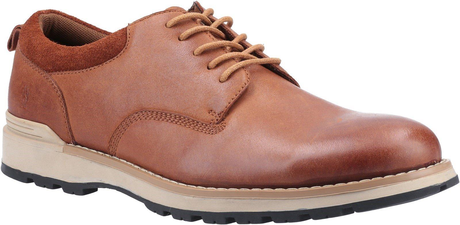 Hush Puppies Men's Dylan Lace Derby Shoes Various Colours 31996 - Tan 6