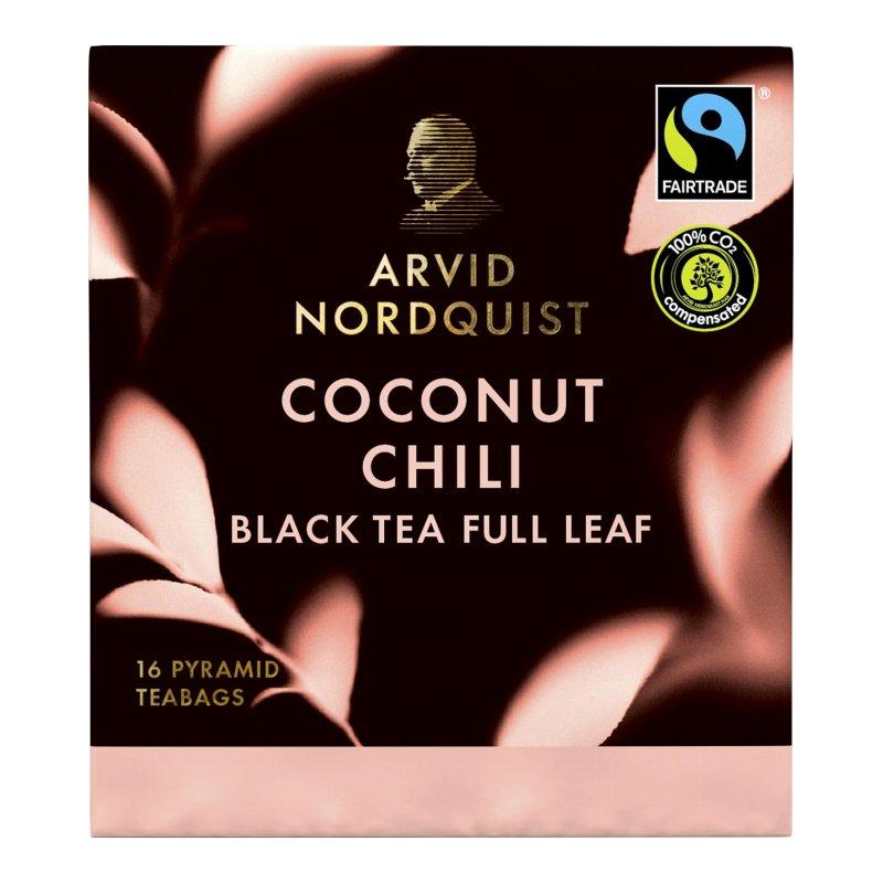 "Musta tee ""Coconut & Chili"" 16-kpl - 25% alennus"