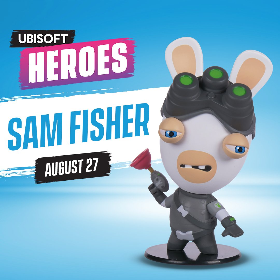 Heroes Collection - Rabbids Sam Fisher Chibi Figure