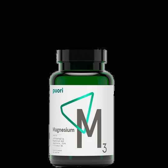 M3 Magnesium & Zink Vegan, 60 kapslar